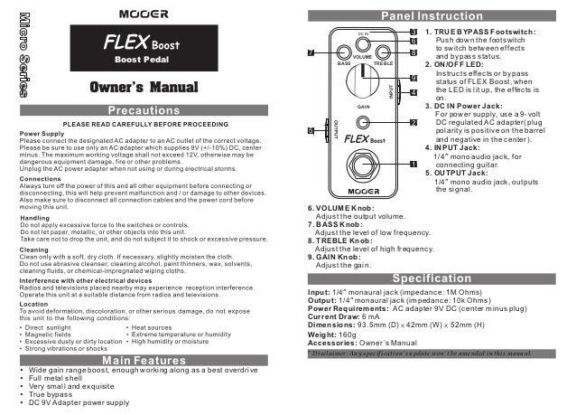 Manual do pedal Mooer MFB Flex Boost (PORTUGUÊS)