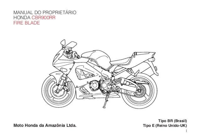 Manual do propietário cbr900 rr 00_d2203-man-0217