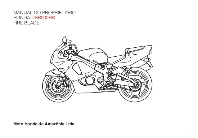 Manual do propietário cbr900 rr 99_d2203-man-0198