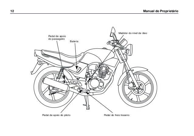 Manual do propietário cbx200 s 0268