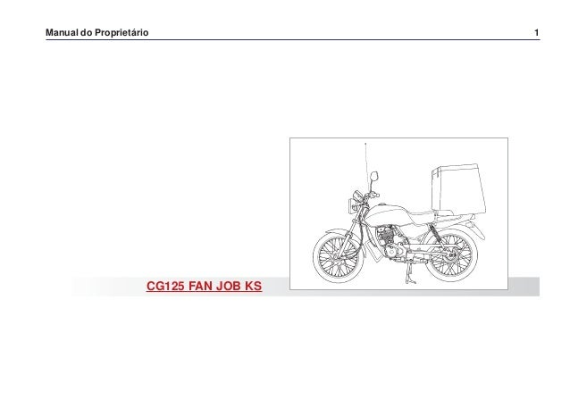 Manual do propietário cg125 fan job ks (2006) d2203-man-0471