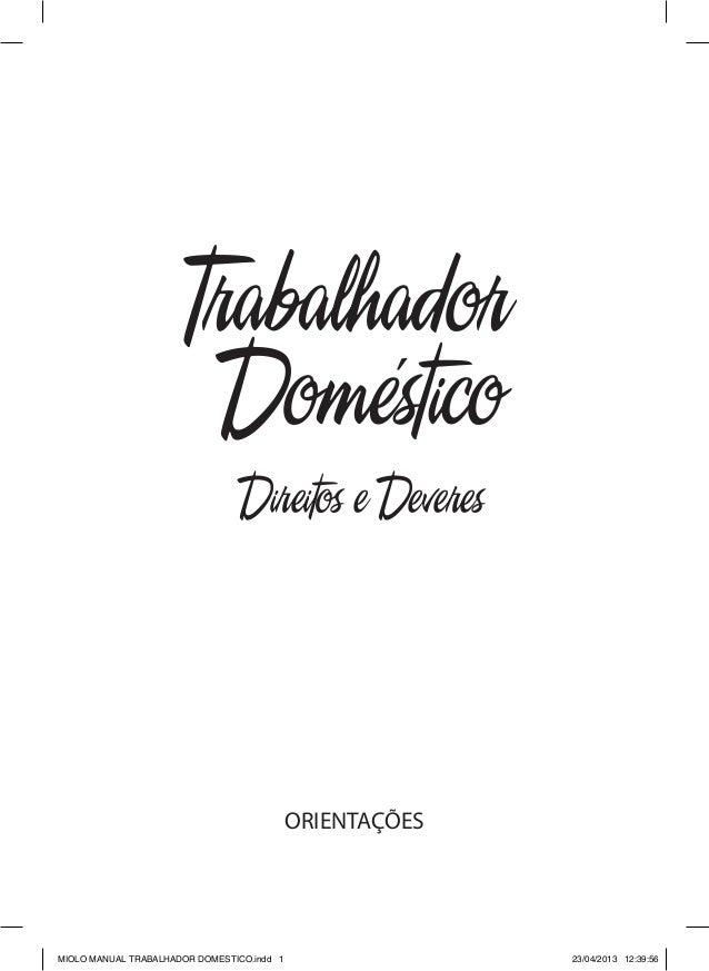 Manual do trabalho doméstico com modelos de documentos