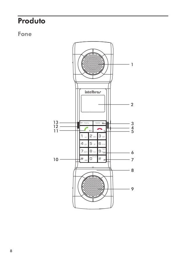 Manual do Telefone Sem Fio TS 8120 Intelbras