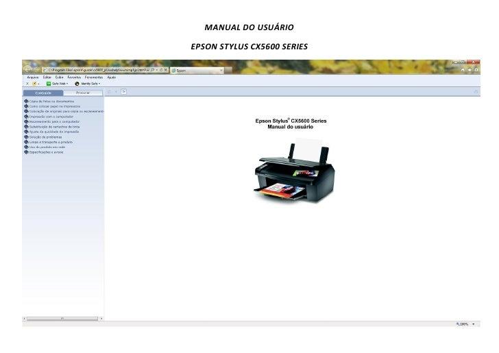 manual do usu rio epson cx5600 para so windows rh pt slideshare net impresora epson cx5600 manual epson cx5600 manual
