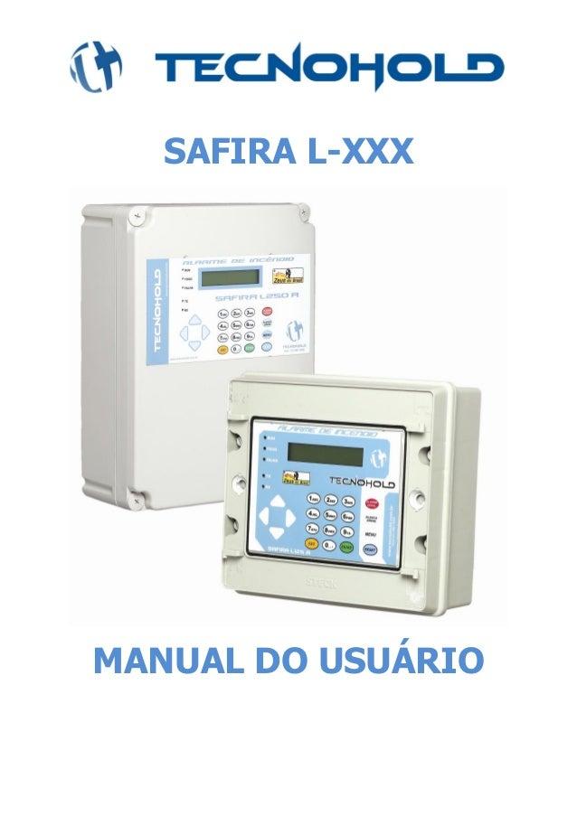 SAFIRA L-XXX MANUAL DO USUÁRIO