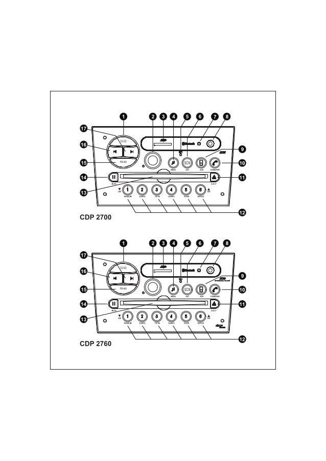 Manual do usuário Player Vectra CDP2700 CDP2760