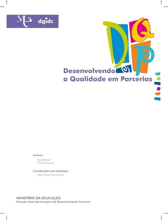 MANUAL DQP                                                        Nota de ApresentaçãoA Direcção-Geral de Inovação e de De...