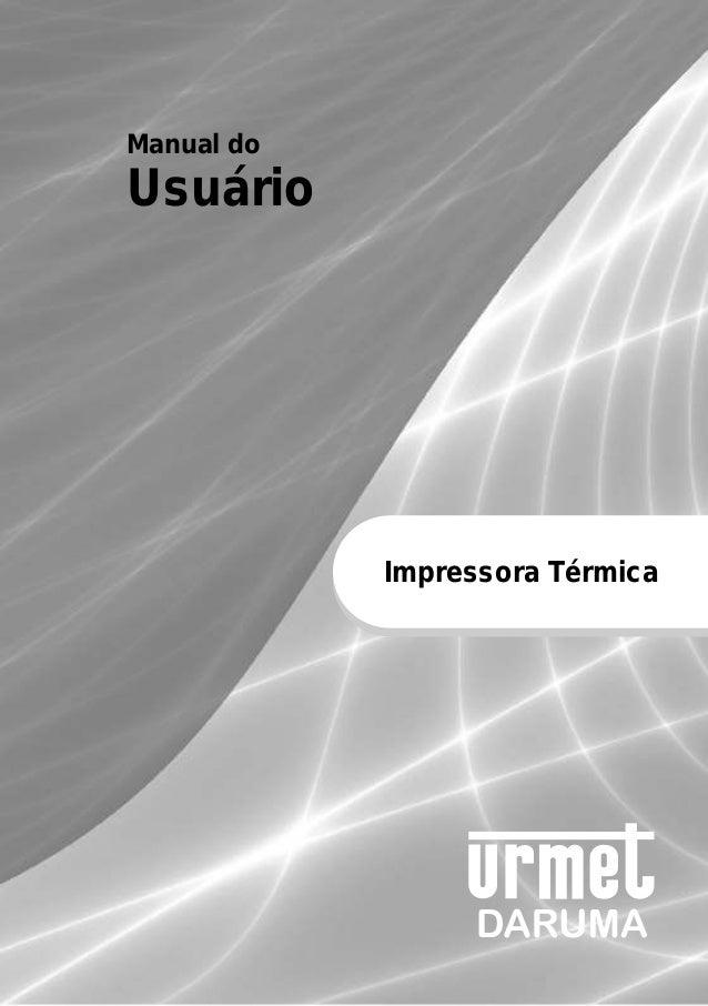 Manual do Usuário Impressora Térmica
