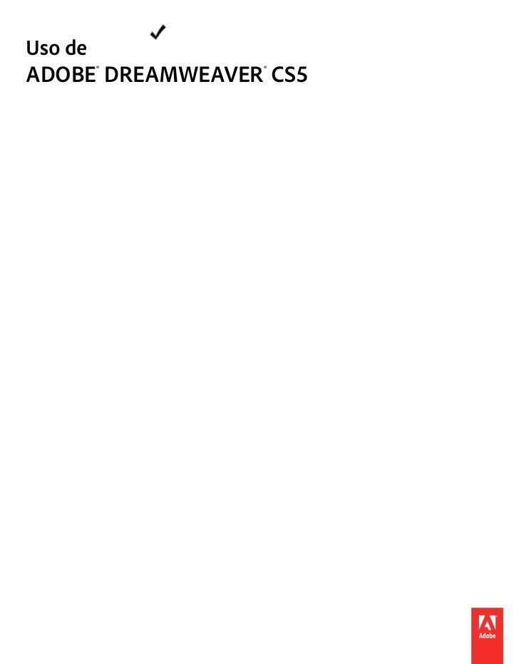 Uso deADOBE® DREAMWEAVER® CS5
