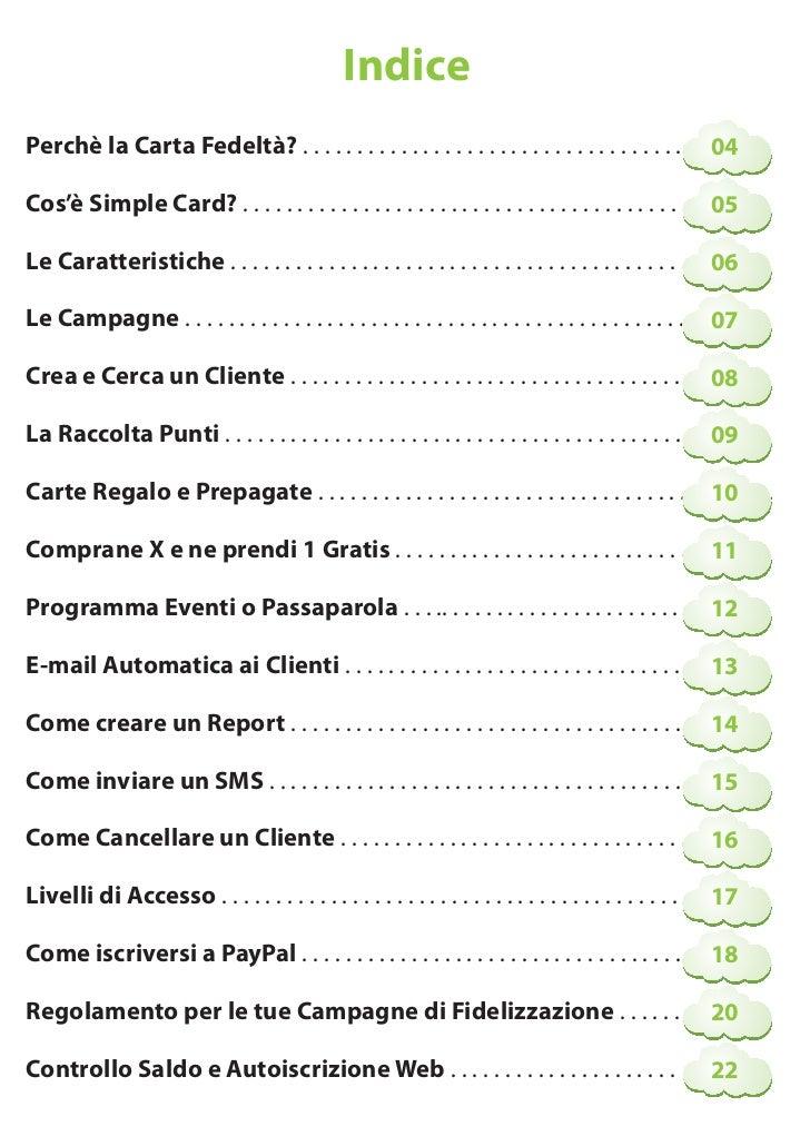 Manuale simple card - I diversi tipi di carta ...