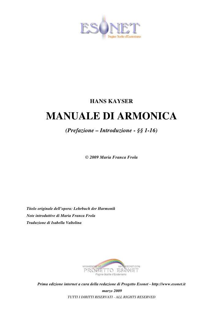 Manuale Armonica I Quaderno