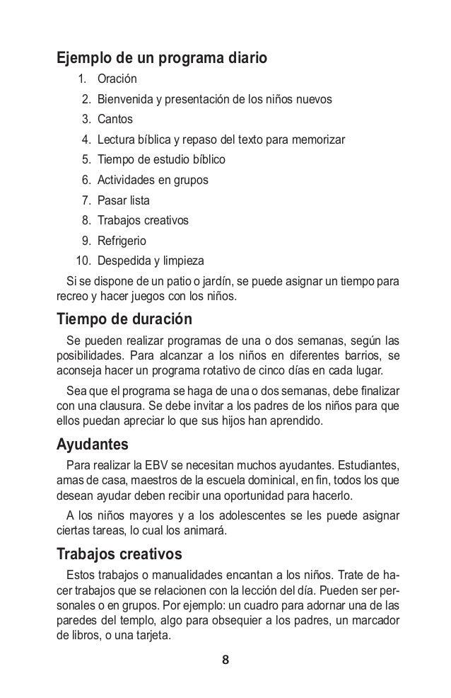 Manual ESCUELA BIBLICA DE VERANO