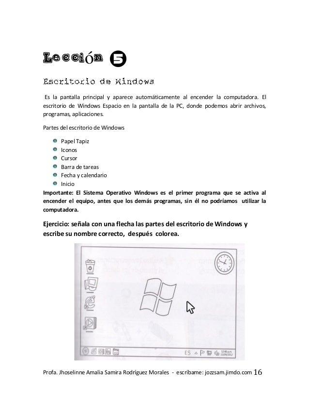 Manual De Informatica Para Primero Primaria