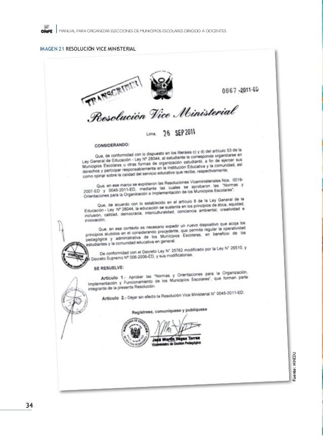 Manual elecciones municipios escolares docentes