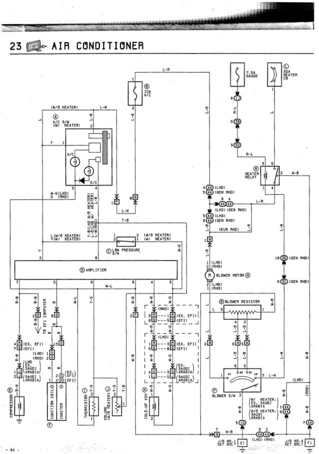 toyota corolla air conditioning diagram  toyota  auto