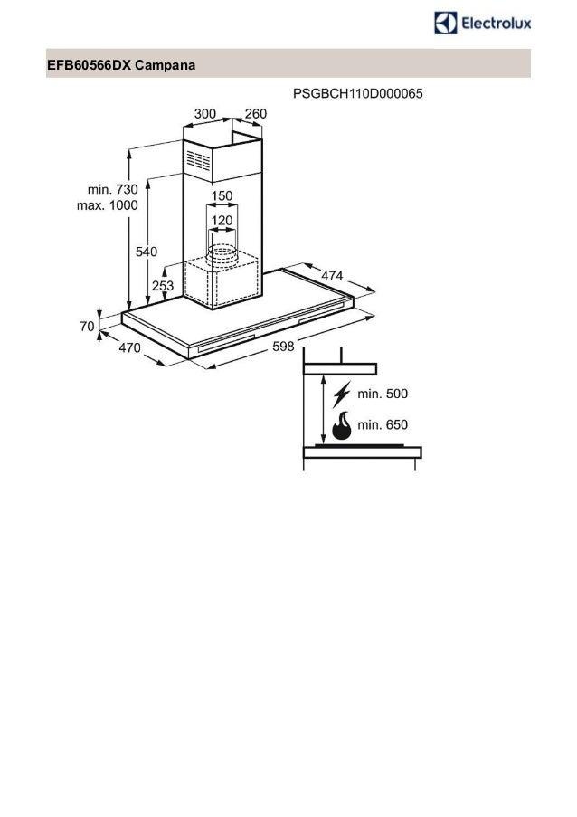 Manual electrolux campana efb60566dx