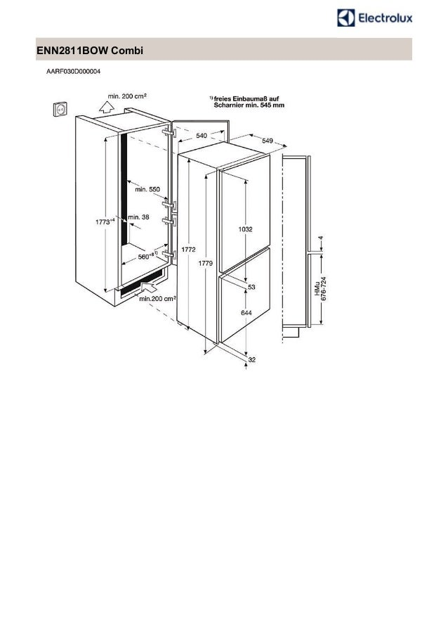 Manual electrolux frigorífico enn2811 bow