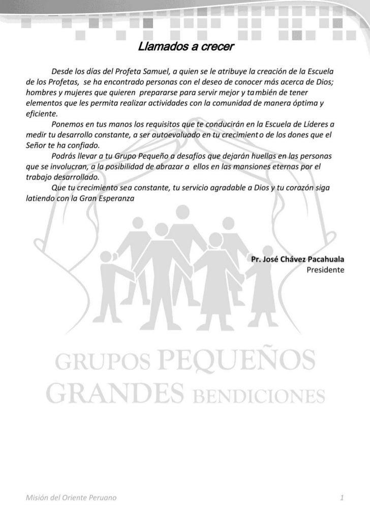 Manual de la Escuela de Líderes de Grupos Pequeños
