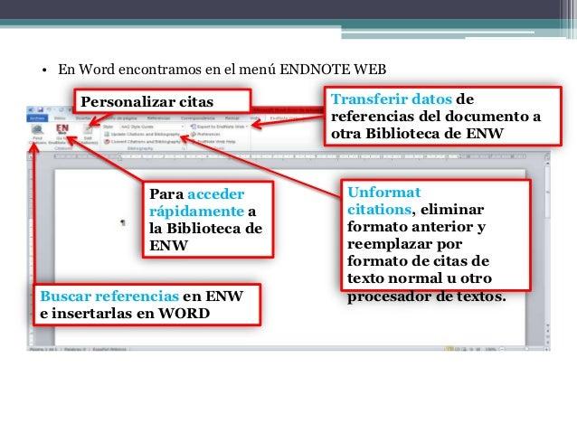 Manual endnote web