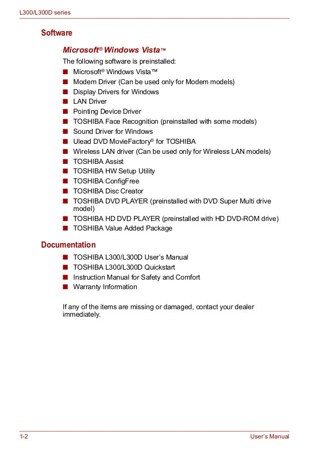 toshiba portable supermulti drive user manual