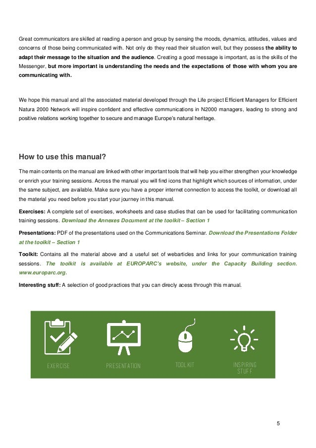 Effective Communication for Natura 2000 Managers – Effective Communication Worksheets