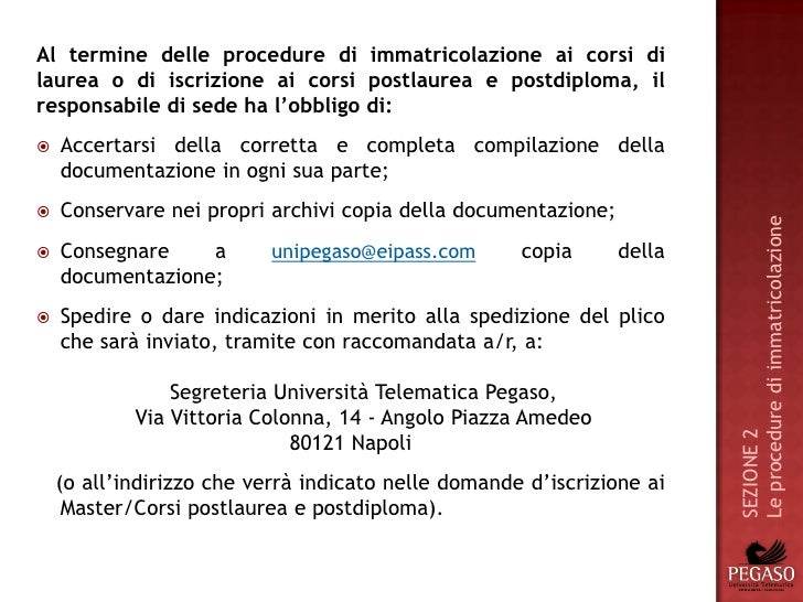 Manuale Operativo Polo Universitario Telematico Pegaso
