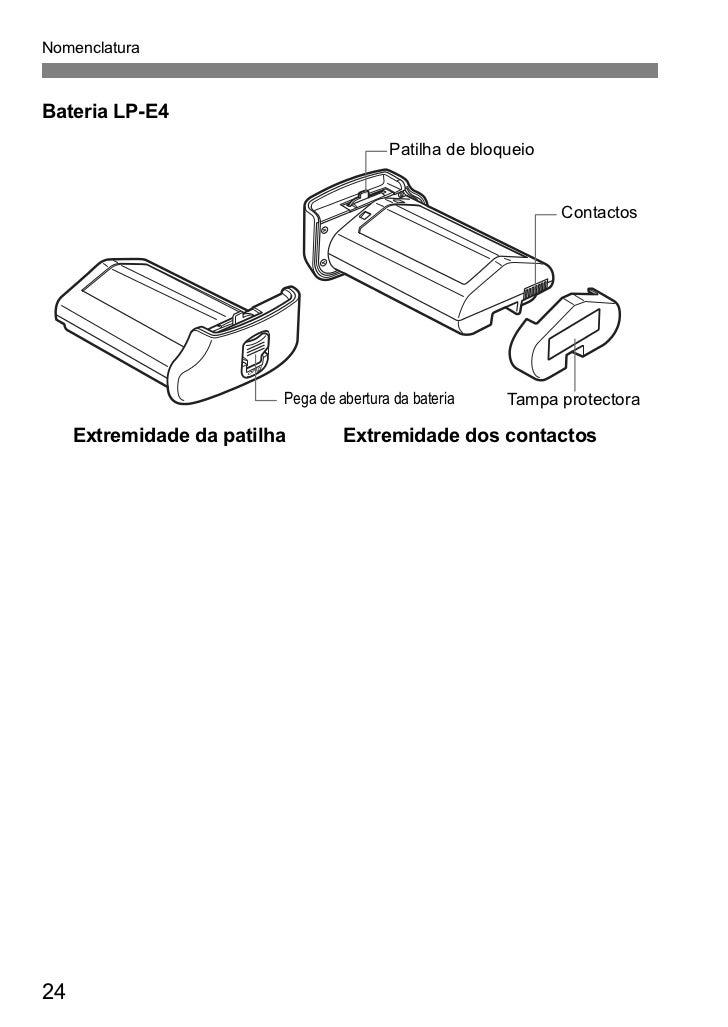 Manual Canon EOS 1D em Português