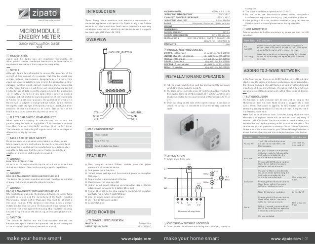 Manual Zipato PAB01
