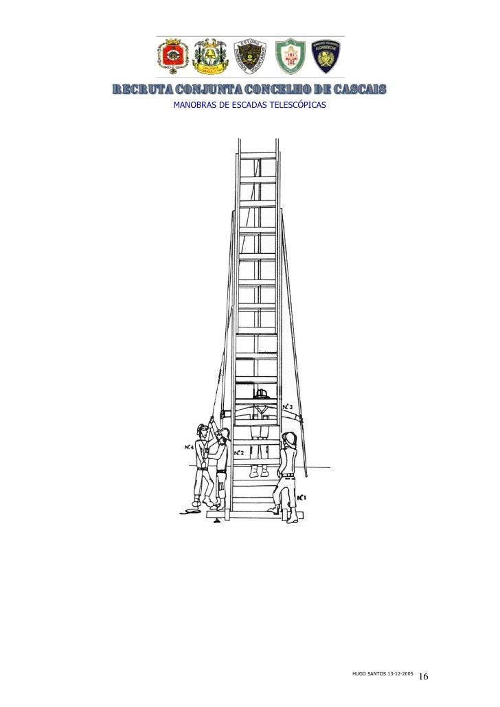 Manual escadas telescópias