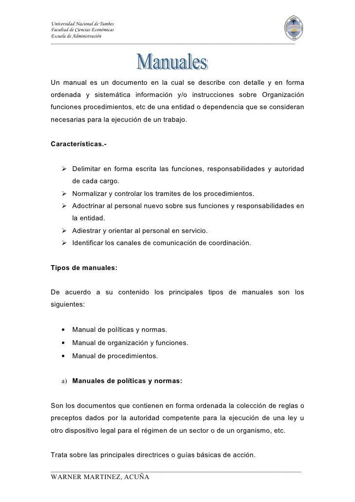 Universidad Nacional de Tumbes Facultad de Ciencias Económicas Escuela de Administración _________________________________...