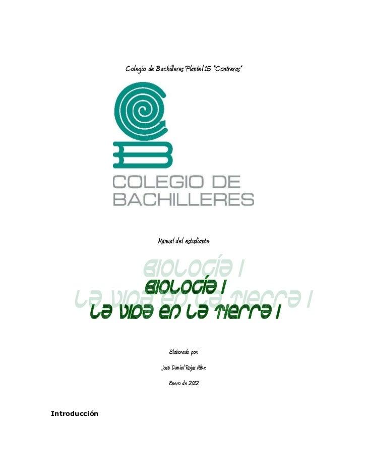 """Colegio de Bachilleres Plantel 15 """"Contreras""""                           Manual del estudiante                             ..."""