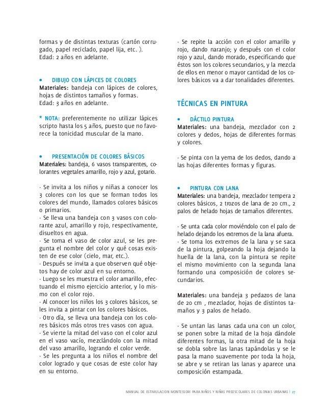 Manual estimulacion montessori