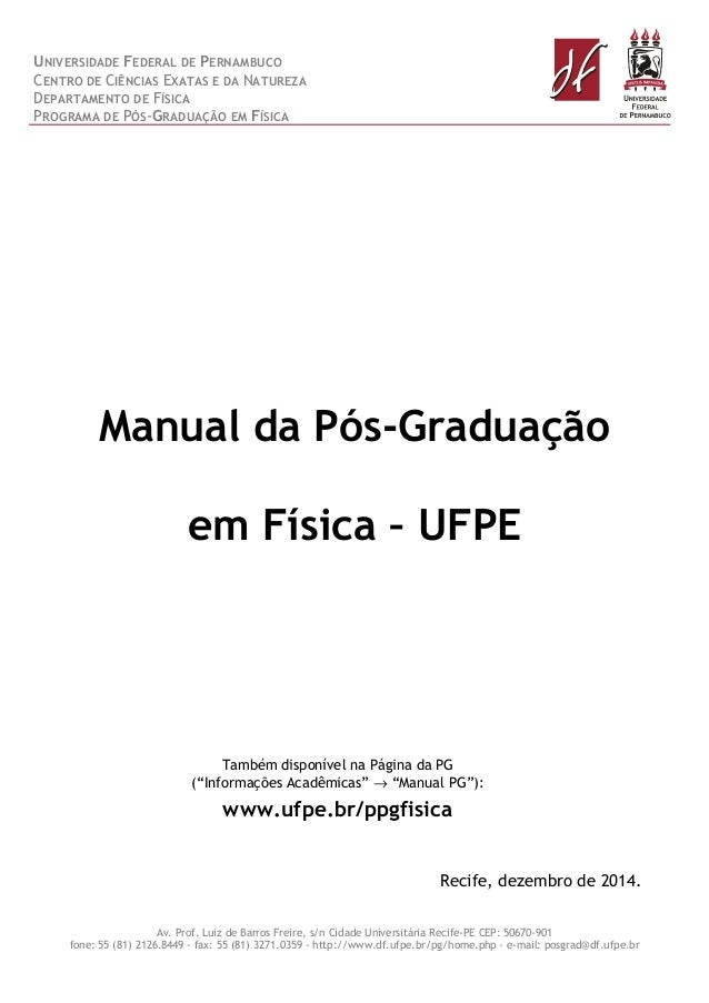 UNIVERSIDADE FEDERAL DE PERNAMBUCO CENTRO DE CIÊNCIAS EXATAS E DA NATUREZA DEPARTAMENTO DE FÍSICA PROGRAMA DE PÓS-GRADUAÇÃ...