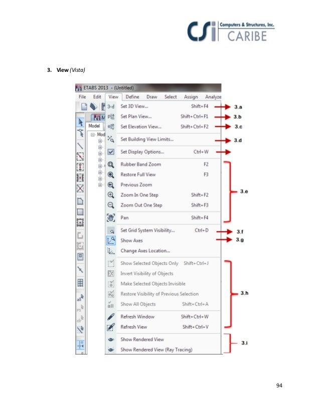 Manual etabs 2013