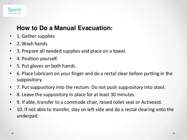 Manual Evacution