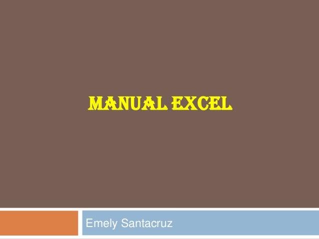 MANUAL EXCEL  Emely Santacruz