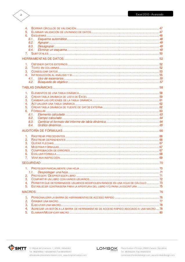 Tutorial de excel avanzado 2007 gratis pdf