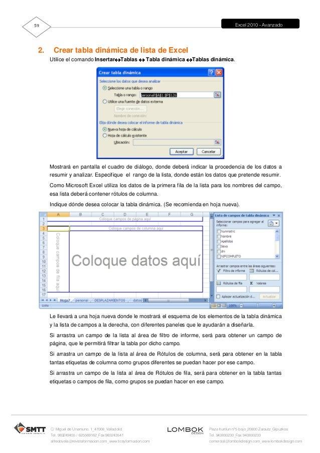 Excel 2010 Manual