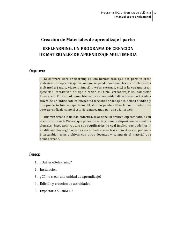 manual exelearning