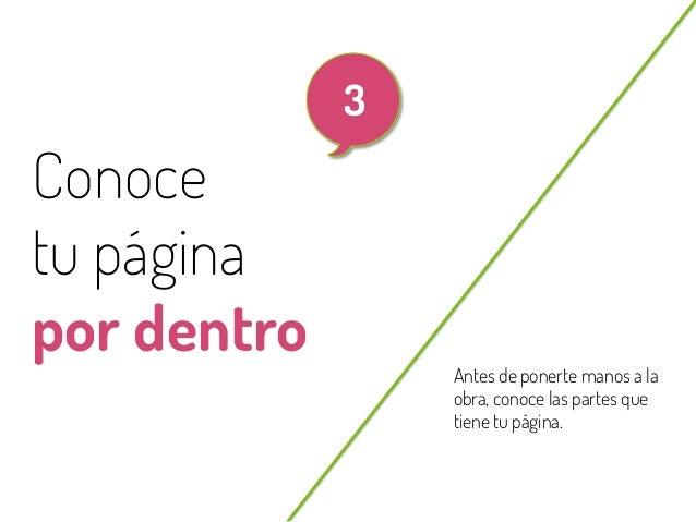 17  3  Conoce tu página por dentro @beagonpoz  Antes de ponerte manos a la obra, conoce las partes que tiene tu página.  w...