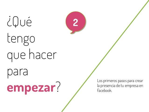 6  ¿Qué tengo que hacer para empezar? @beagonpoz  Los primeros pasos para crear la presencia de tu empresa en Facebook.  w...