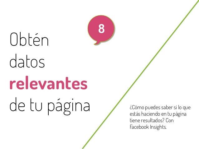 62  Obtén datos relevantes de tu página @beagonpoz  8  ¿Cómo puedes saber si lo que estás haciendo en tu página tiene resu...