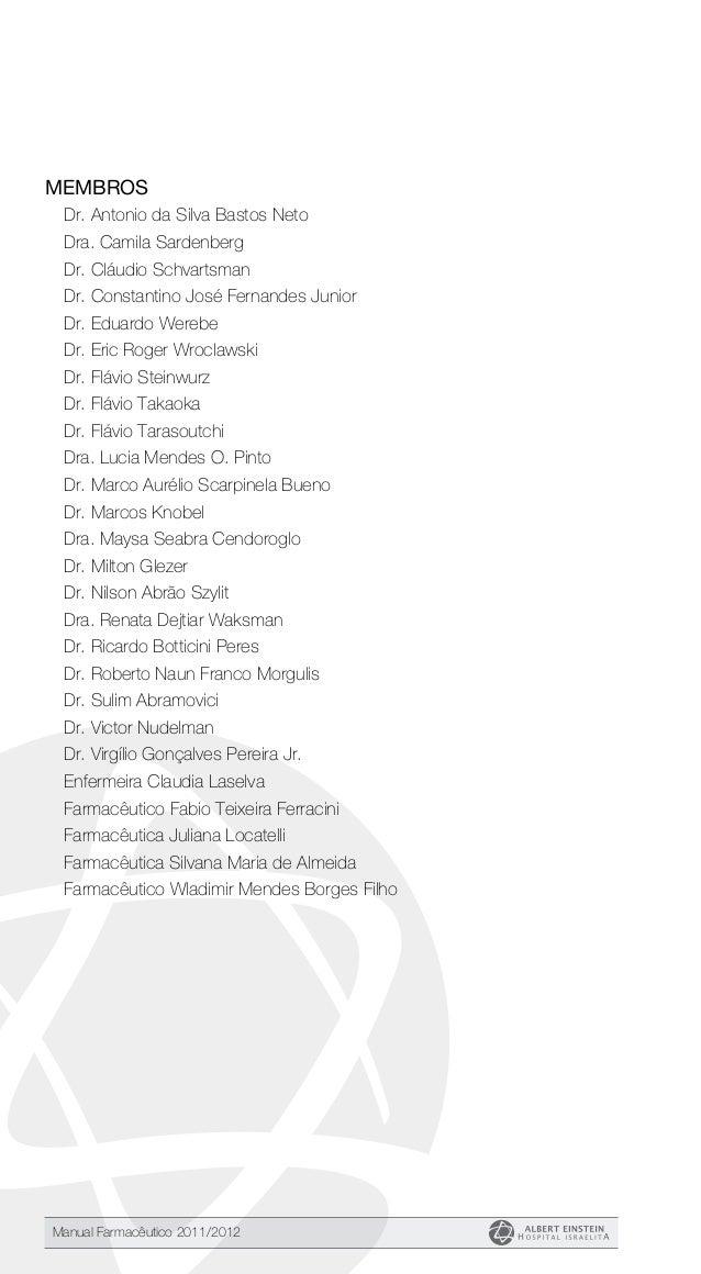Manual Farmacêutico do Hospital Israelita Albert Einstein