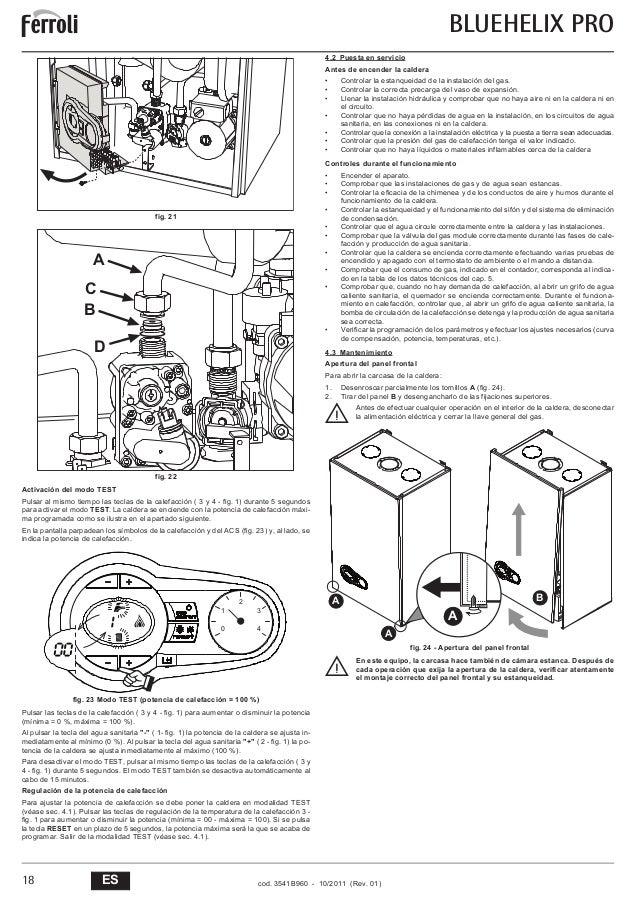 Manual ferroli blue helix pro 25