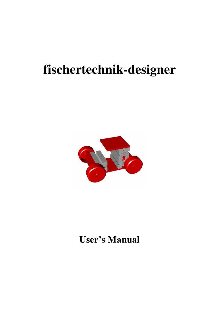 fischertechnik-designer      User's Manual