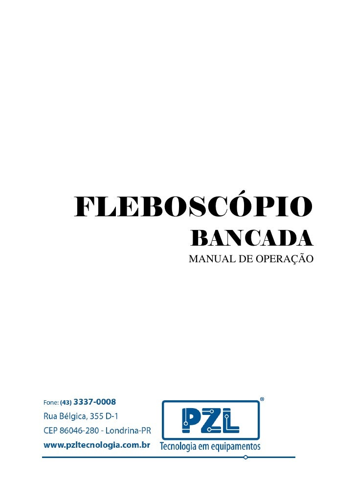 Manual Fleboscópio Bancada