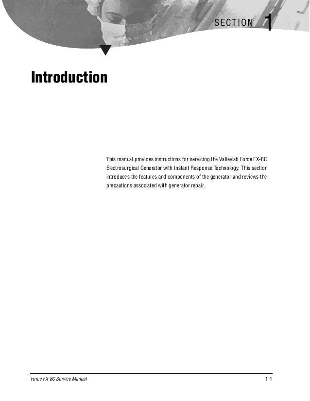 Valleylab Force FX-C FX-8c Service Manual | PDF | MedWrench