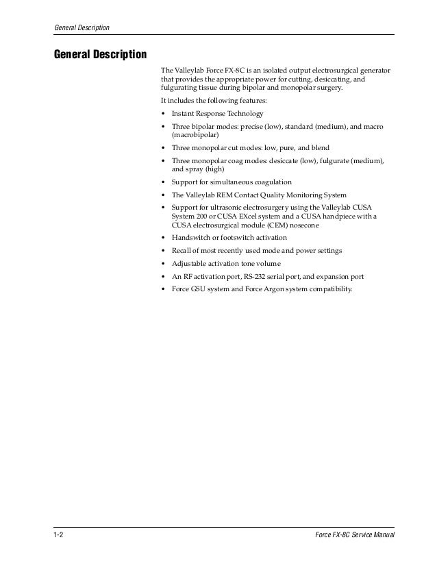 Manual tecnico de electrobisturi force - SlideShare