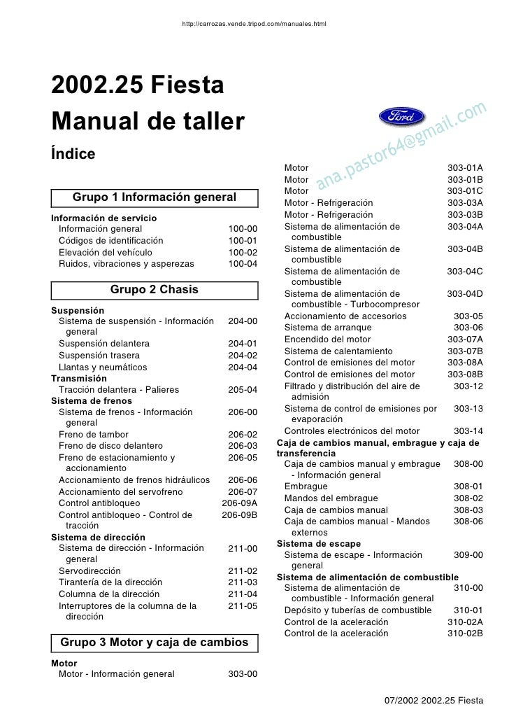 manual ford fiesta 2006 rh es slideshare net ford fiesta 2006 manual english ford fiesta 2006 manual