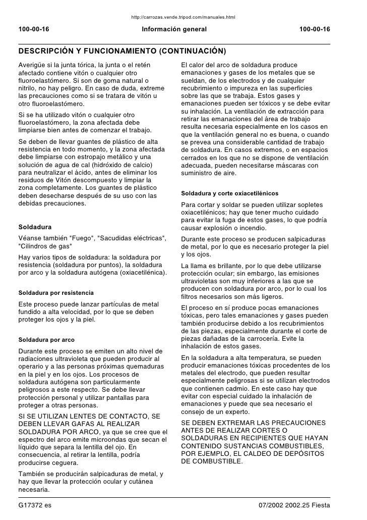 manual ford fiesta 2006 rh es slideshare net manual de usuario ford fiesta 2006 manual de taller ford fiesta 2006
